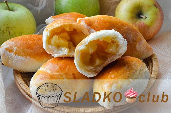 Пирожки с яблоками из бездрожжевого теста в духовке рецепт пошагово 7