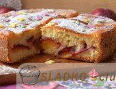 Миниатюра к статье Пирог со сливами – рецепты для праздников и на каждый день