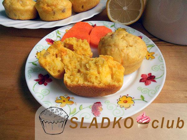 Простые и вкусные кекс с морковью
