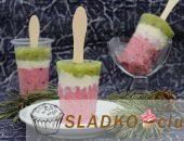 Миниатюра к статье Как сделать мороженое из зефира «Арбуз»