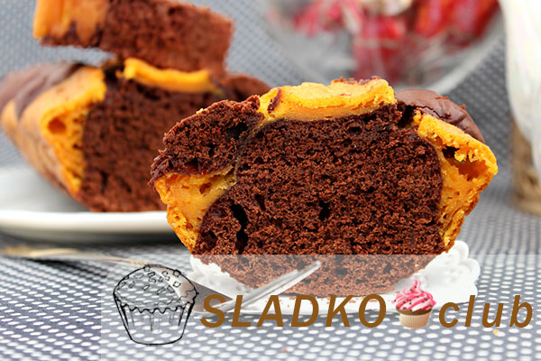 Шоколадный брауни с тыквой