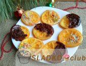 Миниатюра к статье Рождественское угощение — карамелизированные апельсины в шоколаде