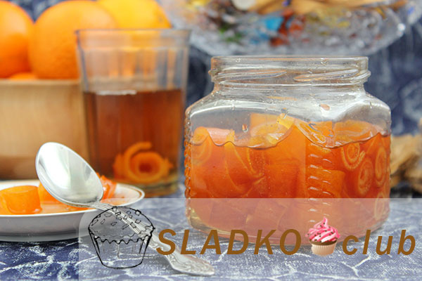 Варенье из корочек апельсина