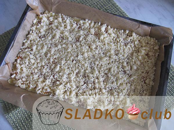 Штрейзельный пирог с вареньем - рецепт пошаговый с фото