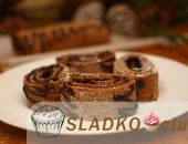 Миниатюра к статье Бисквитный шоколадный рулет с глазурью