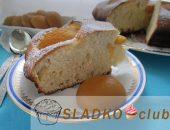 Миниатюра к статье Простой и вкусный пирог с консервированными абрикосами