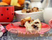 Пошаговый рецепт хлебного пудинга с бананом и шоколадом