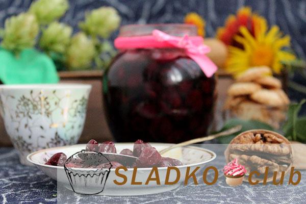 Варенье из очищенной от косточек вишни с грецким орехом