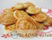 Печенье Ракушки из слоеного дрожжевого теста