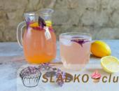 Миниатюра к статье Витаминный напиток лимонад с листьями базилика и лимонным соком