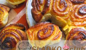 Миниатюра к статье Вкусные дрожжевые булочки с цедрой и соком апельсина