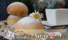Миниатюра к статье Рецепт булочек с творогом из дрожжевого теста «Снежки»