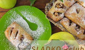 Миниатюра к статье Как приготовить из готового слоеного бездрожжевого теста слойки с начинкой из айвы и грецкого ореха